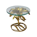 Gilt Lily Side Table by Arthur Court