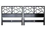 Pair Twin 'New World' Chinoiserie Headboards by Baker Furniture