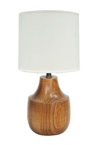 Turned Oak Table Lamp
