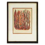 'Burning Bush' Print in Red and Black