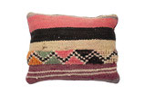 Colorful Moroccan Berber Throw Pillow in Zig Zag Coral