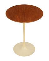 Saarinen Tulip End Table w Walnut Top by Knoll