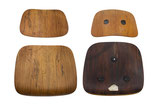 Rosewood Eames DCM Bent Plywood Chair Parts