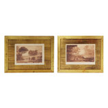 Sepia Mezzotints by Claude Lorraine, pair