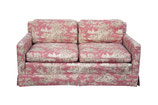 Toile Loveseat with Down Filled Cushions #2