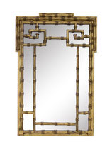 Gilt Faux Bamboo Mirror by Labarge