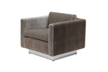 Plush Velvet Club Chair by Stow & Davis