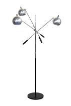 Robert Sonneman Triennale Style Chrome Floor Lamp