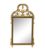 Gilt Mirror by John Widdicomb with Heart and Tassel Motifs