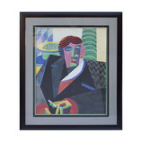 Framed Cubist / Futurist Print by Fortunato Depero