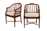 Chippendale Armchairs by Hekman, pair