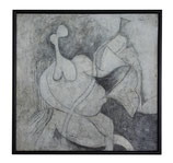 Abstract Reclining Figure in Black and White