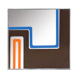 1970s Printed Mirror by Greg Copeland