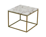 Brass and Marble Side Table attributed to Paul McCobb