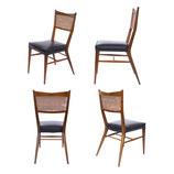 Paul McCobb Walnut Dining Chairs, S/4