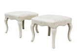 Pair of Ottomans by Sherrill
