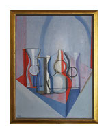 'Still Life in Red and Blue' by Joseph Mellor Hanson