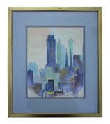 Dreamy Watercolor Cityscape