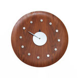 George Nelson Walnut Tray Clock