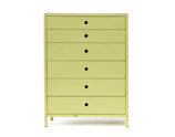 Metal Chest Dresser in Citron Finish by Norman Bel Geddes for Simmons