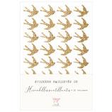 Stickers pailletés Hirondelles scintillantes * Paillettes or