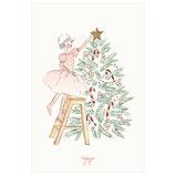 Carte Étoile de Noël