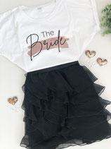 """JGA-T-Shirt """"The Bride""""- Design Farbstrich"""