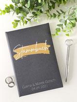 Stammbuch Standardmaß - Design 002 - personalisierbar mit Namen