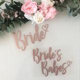 """Bügelbild """"Bride"""" oder """"Bride´s Babes"""" für den JGA - Design """"Herzschrift"""""""