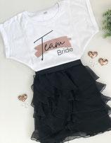 """JGA-T-Shirt """"Team Bride""""- Design Farbstrich"""