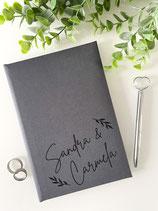 Stammbuch Standardmaß - Design 009 - personalisierbar mit Namen