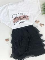 "JGA-T-Shirt ""The Bride"" mit NAME- Design Farbstrich"