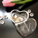 Schmuckdöschen aus Glas mit Initialen