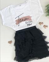 "JGA-T-Shirt ""Team Bride"" mit NAME- Design Farbstrich"