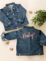 Jeansjacke mit Audruck für Kinder