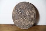 Schild Wappen Keramik Sigel Civitat Templinens Anno 1618