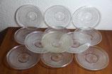 Dessertteller Glas DDR mit Streifen