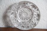 Kristallglas Aschenbecher Bleikristall Handschliff rund Glasaschenbecher