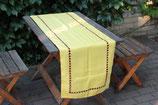 Tischläufer Polyester gelb Holsaum Lochstickerei 45x150cm