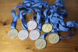 8er Set DDR Medaillen Kreis-Kinder und Jugendspartakiade FDJ 1979 1980