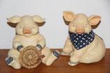 Schweine Figuren Deko Landhaus Set