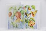 Doppelkarte Postkarte in Transparentpapier Vögel
