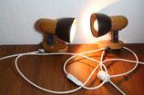 Wandlampen braun Holz Kiefer mit Verlängerungskabel für Steckdose 60W
