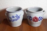 blau graue Keramik große Vorratstöpfe