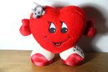 Plüschherz Kuscheltier Herz mit Maus Plüschtier
