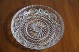 Bleikristallteller mit aufwendigem Handschliff Sterne Kristallglas Dessertteller