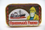 Fisherman's Friend Blechdose Dampfer Seemann rot gelb alt