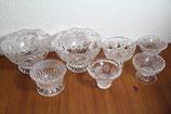 Bleikristall Kristallglas Schale auf Fuß Rosen Handschliff