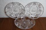 3er Set Bleikristall Dessertteller Kristallglas