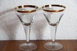 alte Likörgläser Weingläser mit Goldrand